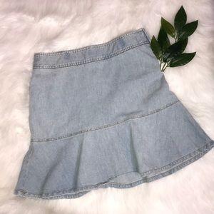 NEW Theory   Chambray skirt
